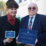 Suzanne and Professor Emeritus Earl Babbie help dedicate the Earl Babbie Research Center at Smith Hall