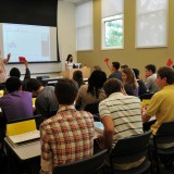 High school students participate in game theory situations to explore issues of trust, fairness and group decision-making at summer ESI workshop. Professor and Nobel laureate Vernon L. Smith will participate in this summer's program.