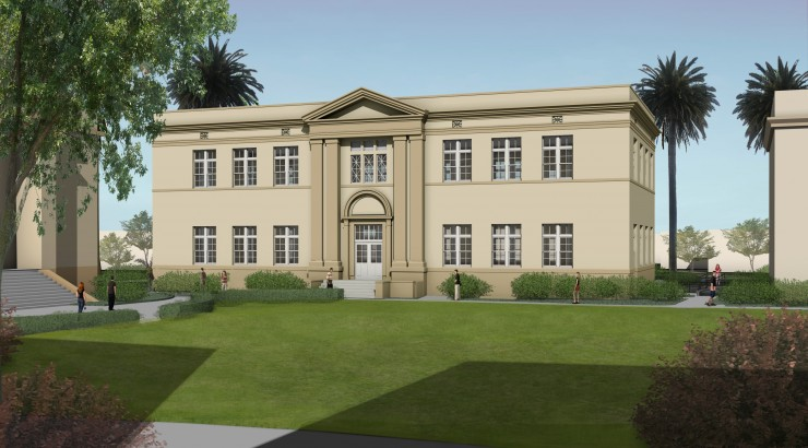 The new classroom building in the historic classroom core will be named James L. and Lynne P. Doti Hall.