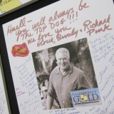 The Pink family, who famously created the 'Huell Dog,' were among those who signed celebration posters.