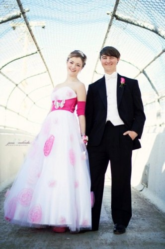 One young cancer patient chose one of Murphy's PICColina creations to match her prom dress