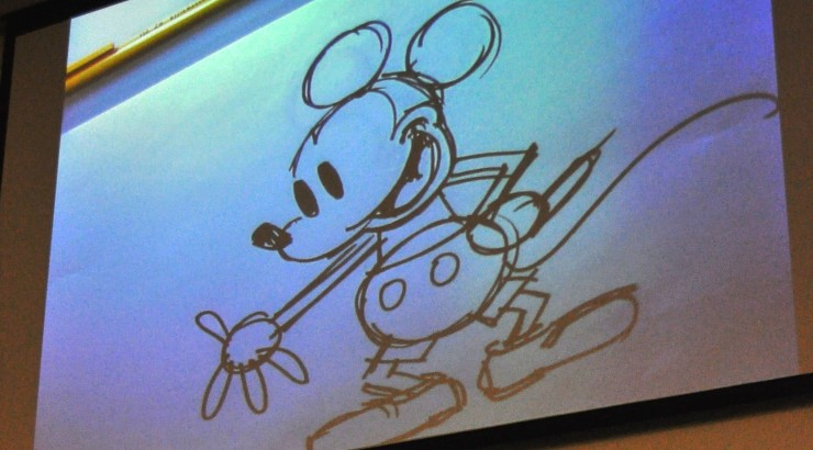 drawing of mickey mouse