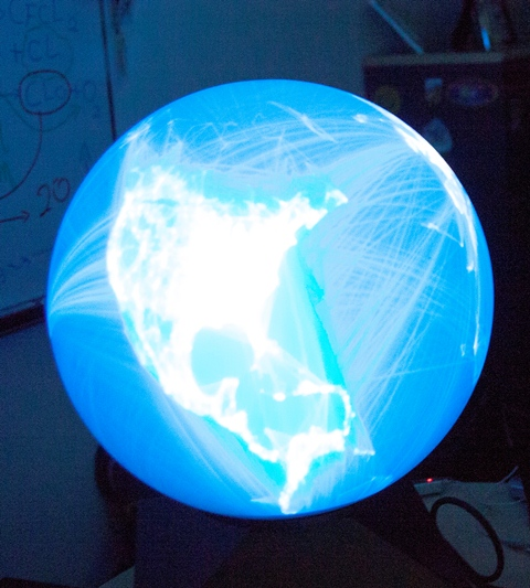 artsy globe