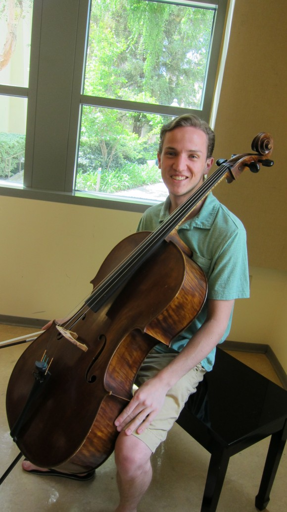 Connor Bogenreif '15 says returning to the Segerstrom Concert Hall is a unique opportunity.