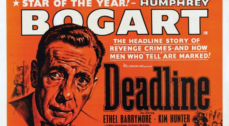 Humphrey Bogart plays a crusading editor intent on exposing crooked politicians in