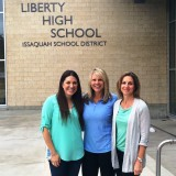 From Left: Kelly Nunn - MLD, Teacher Michelle Munson and  Parent-Catalyst Madonna Messina were all major parts of the project to bring Leadership education to Liberty High School.