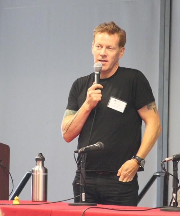 man speaking