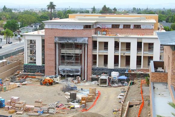 A recent snapshot of Musco Center construction progress (taken in Oct. 2015).