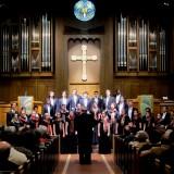 choir sings in church
