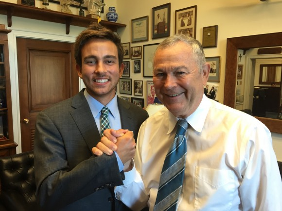 Clayton Heard with Dana Rohrabacher