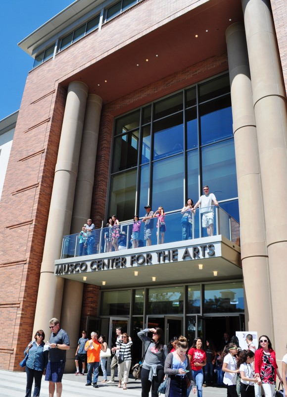 people in front of the Musco Center