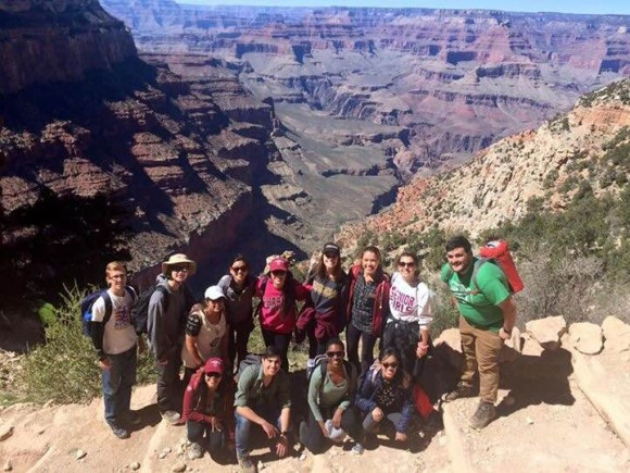 students at the grand canyon