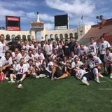 lacrosse team on field