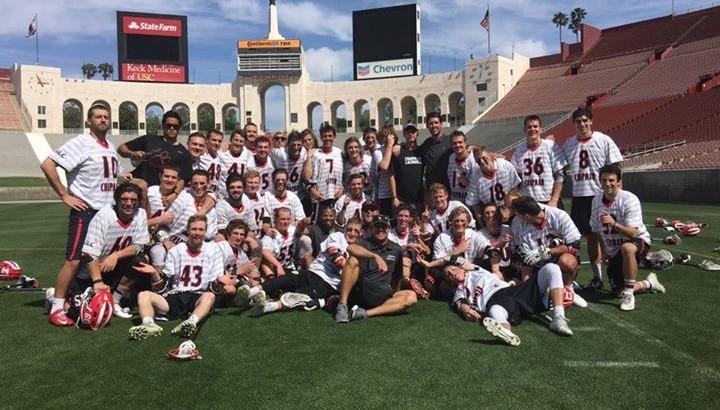 lacrosse team on field