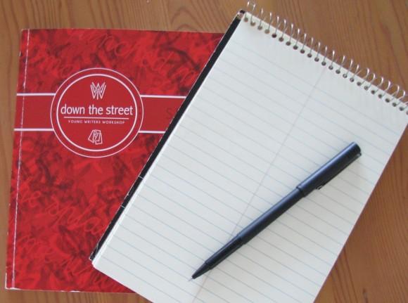 Spiral bound notebook and pen