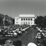 commencement on memorial lawn