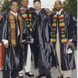 group of men in commencement gowns