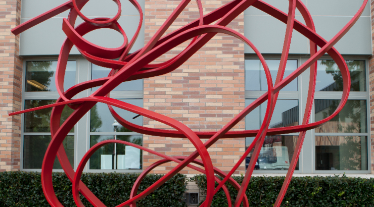 red sculpture