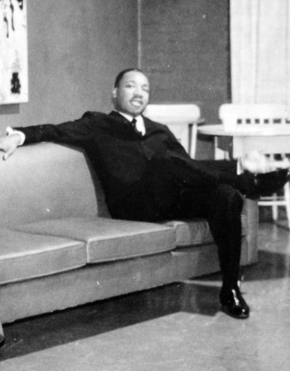 The Rev. Martin Luther King at Chapman College in 1961.