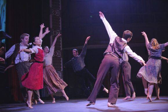 young people dancing on a stage