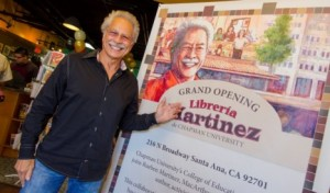 Rueben Martinez, founder of Libreria Martinez de Chapman University, at the bookstore in Santa Ana, Calif.