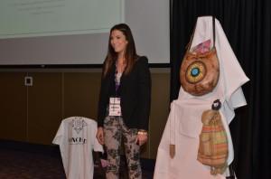 Susanna Davidoff presenting her entrepreneurship business plan