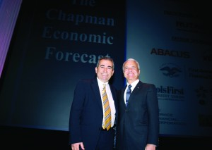 Esmael Adibi (right) and Jim Doti will present Chapman University's mid-year Economic Forecast Update on June 12 at 8:30 a.m.