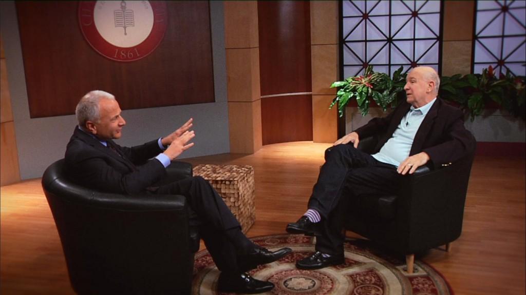 President Jim Doti interviews Tony-winning playwright Terrence McNally