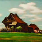 """Near Modesto"" (1940) painting."