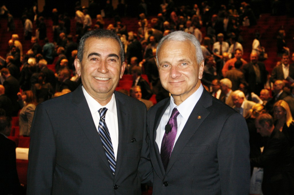 President Doti with Esmael Adibi, Ph.D.