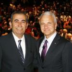 President Doti with Esmael Adibi, Ph.D.