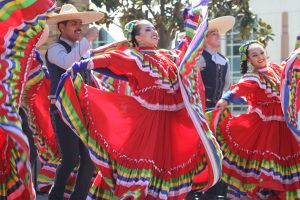 Mexican dancers performing