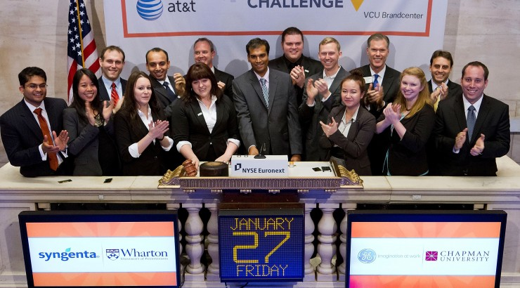 MBA team ring NYSE bell as innovation finalists in national competition