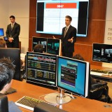 Chapman University Student portfolio managers presenting at the Janes Financial Center