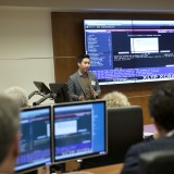 Kameron So delivering Bloomberg Training at the Janes Financial Center