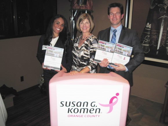 Lisa Wolter, with Topaz Slater & Scott Johnson at the Koman Award Ceremony