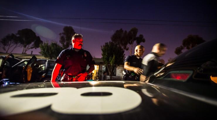 cops arresting someone