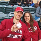 Chapman Family at Angel's baseball game