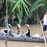 students on boat