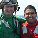 soldier who work on air craft carrier