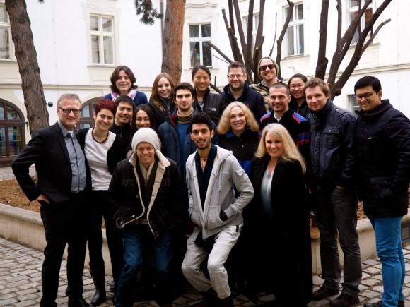 group of MBA Prague students