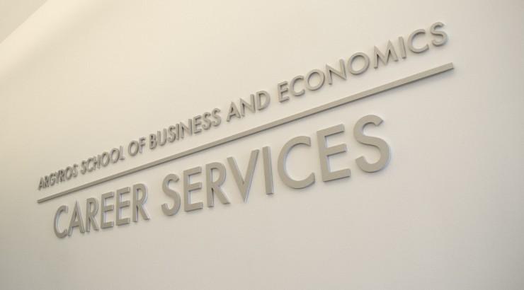 Argyros Career Services sign