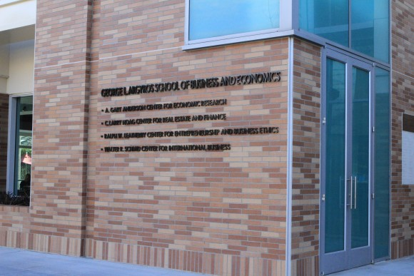 Beckman Hall building sign