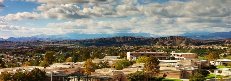 panorama shot of Chapman and city of Orange