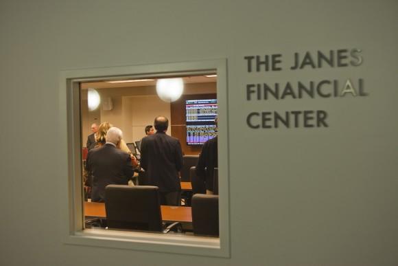 Janes Financial Center door sign