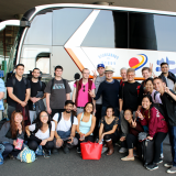 travel abroad student group by bus