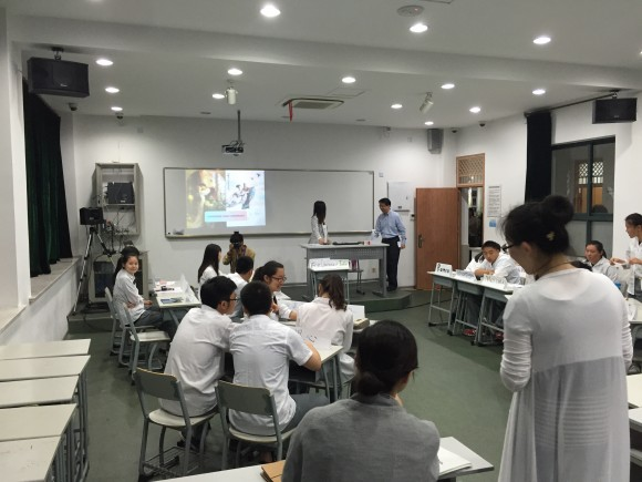 chinese students in classroom