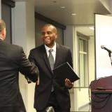 Businessman Eric Brandt and Dean Reggie Gilyard