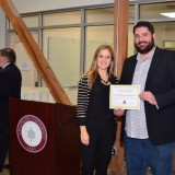 Students receiving award at Leatherby Center