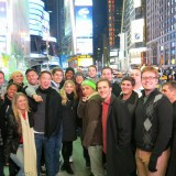 Argyros Student in Times Square